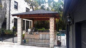 Beautiful Stone Outdoor Kitchen Remodel