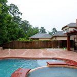 Covered Outdoor Pool Patio Area