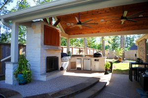 Custom Covered Outdoor Kitchen Patio 3