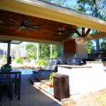 Custom Covered Outdoor Kitchen Patio 5