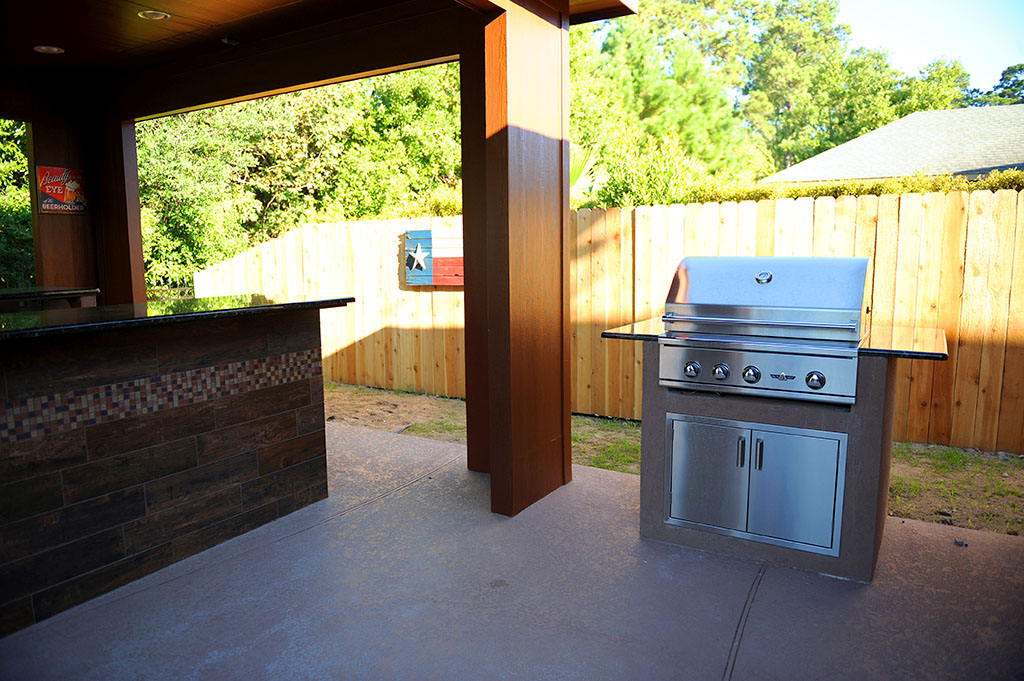 Custom Covered Outdoor Kitchen Patio 9
