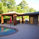 Custom Covered Outdoor Pool and Kitchen Patio Area 2