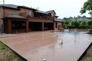 Custom Covered Outdoor Pool and Patio Area