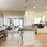 Contemporary Classic Open Concept Design of Kitchen, Dining Room
