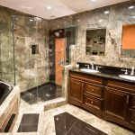 Custom Home Master Bath Design Glass Shower