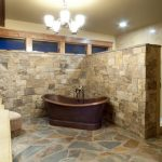 Custom Home Master Bath Design Tiling Bricks