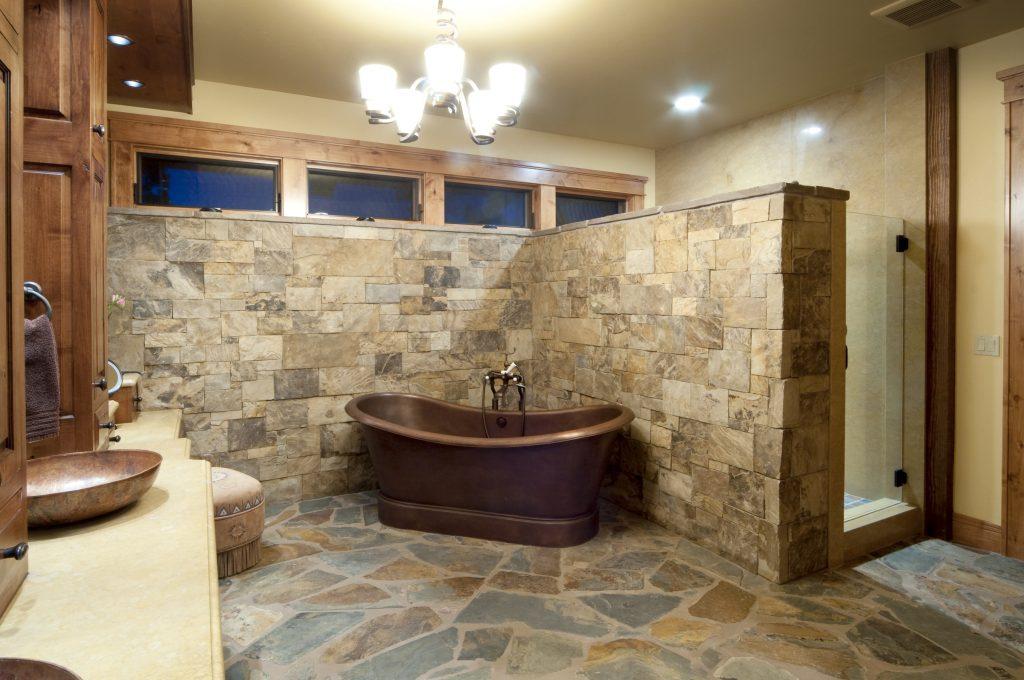 Custom Home Master Bath Design Tiling Bricks