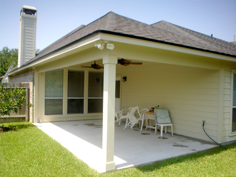 Custom-Patio-Porch-Cover Addition-Houston