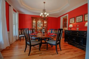 Custom Red Dining Room