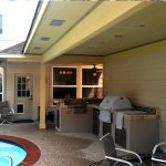 Outdoor Kitchen Poolside Home Attachment