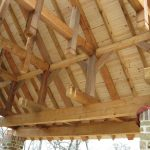 Underside and closeup of a custom patio cover