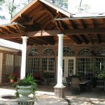 Unique and large custom patio cover.