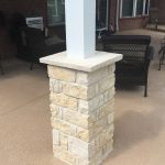 Residential patio cover pillar foundation.